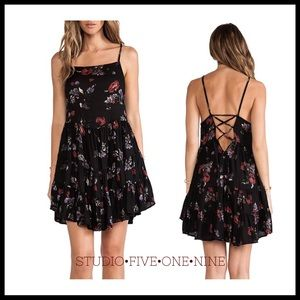 🦋Free People • Circle of Flowers Slip Dress